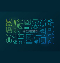 design outline bright banner vector image