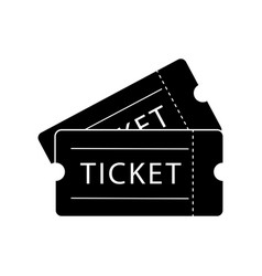 double ticket admission black isolated on a white vector image