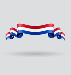 Dutch wavy flag vector