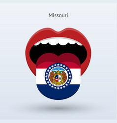 Electoral vote of missouri abstract mouth vector