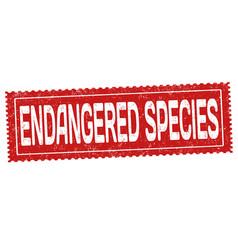 Endangered species grunge rubber stamp vector