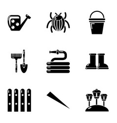 Ennoble home icons set simple style vector