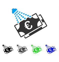 Euro money laundry flat icon vector
