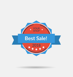 flat isolated badge - best sale vector image