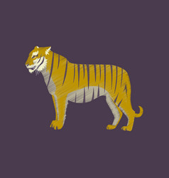 Flat shading style icon tiger vector