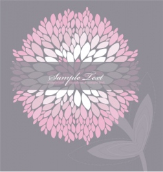 Floral peony background vector