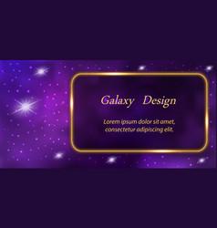 Galaxy banner design mysterious purple universe vector