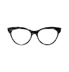 Glasses grunge texture accessory art black vector