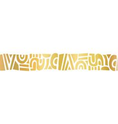 Golden metallic abstract shapes border seamless vector