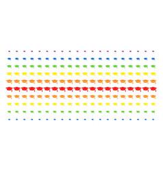 graduation cap shape halftone spectral array vector image