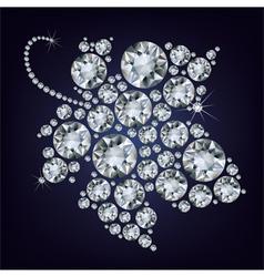 grape-leaf diamond vector image