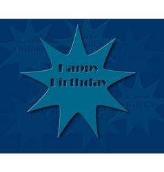 Happy birthday retro with blue color vector