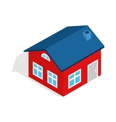 House with attic icon isometric 3d style vector