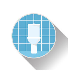 Icon logo interior of bathroom with toilet vector