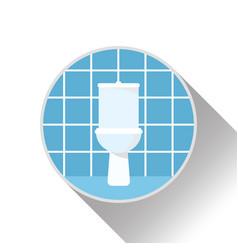 icon logo interior of bathroom with toilet vector image