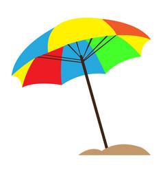Isolated sand umbrella vector