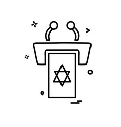 jewish rostrum icon design vector image