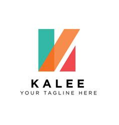 k logo design inspiration vector image