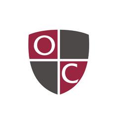 Letter oc advocate vector