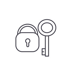 lock with key line icon concept lock with key vector image