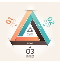 Modern infinite triangle origami vector image