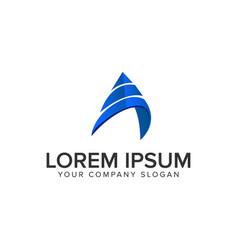 modern letter a logo design concept template vector image