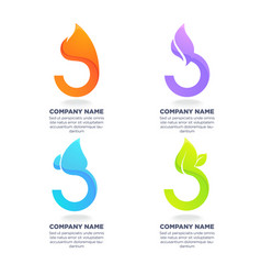 nature symbols four elements for your logo vector image