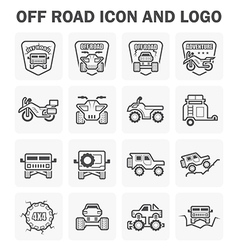 Off road icon vector image