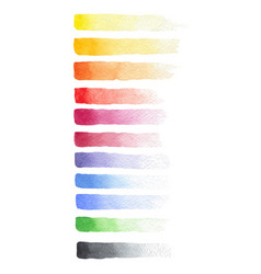 Painted watercolor set of fading brush strokes vector