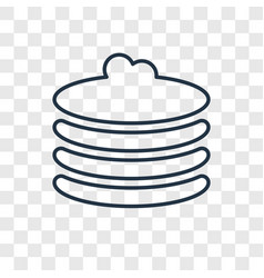 pancakes concept linear icon isolated on vector image