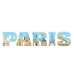 paris skyline 15 vector image