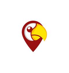Parrot pin location creative abstract modern logo vector