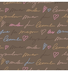 pattern with hand writing elements vector image