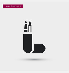 pencil case icon simple school element symbol vector image