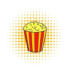 Popcorn comics icon vector