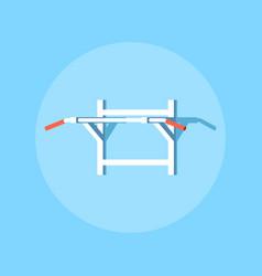 pull-ups horisontal bar vector image