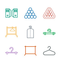 rack icons vector image