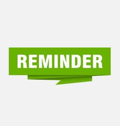 Reminder vector