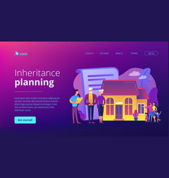 Retirement estate planning concept landing page vector