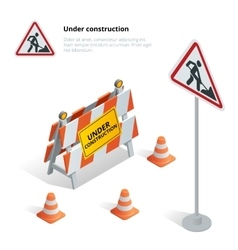 Road repair under construction road sign Repairs vector image