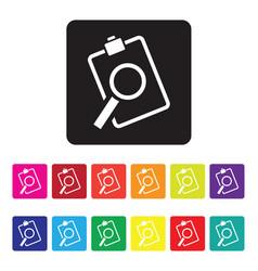 sales analysis icon set vector image