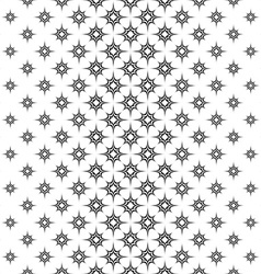 Seamless black white vertical star pattern vector image