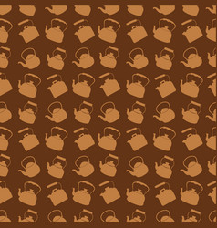 seamless brown pattern with kettle vector image