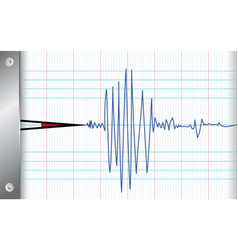 seismometer vector image