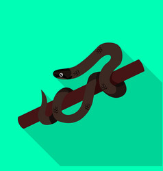 Serpent and venomous icon vector