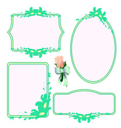 Set decorative frames vector