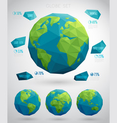Set of eco globes vector