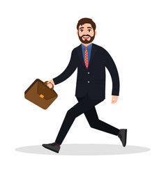 Silhouette of a businessman running with vector