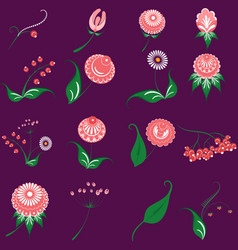 slavic folk traditional native floral ornament vector image
