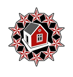 Solidarity idea branding icon simple house vector image